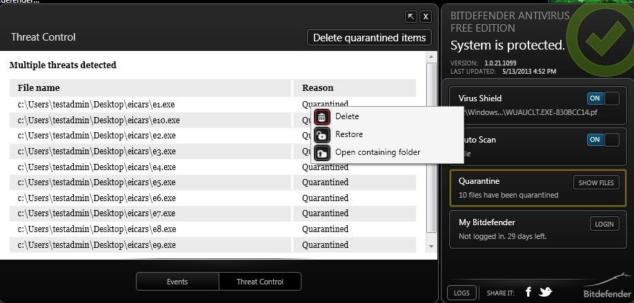 Антивирус - BitDefender Antivirus Free Edition