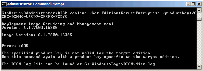 Обновление Windows Server 2008 R2 Standard до Enterprise