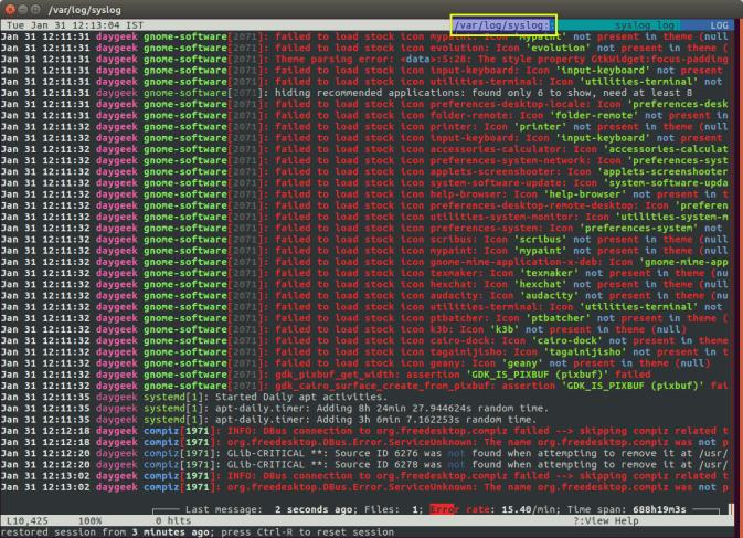 Лог файлы Linux