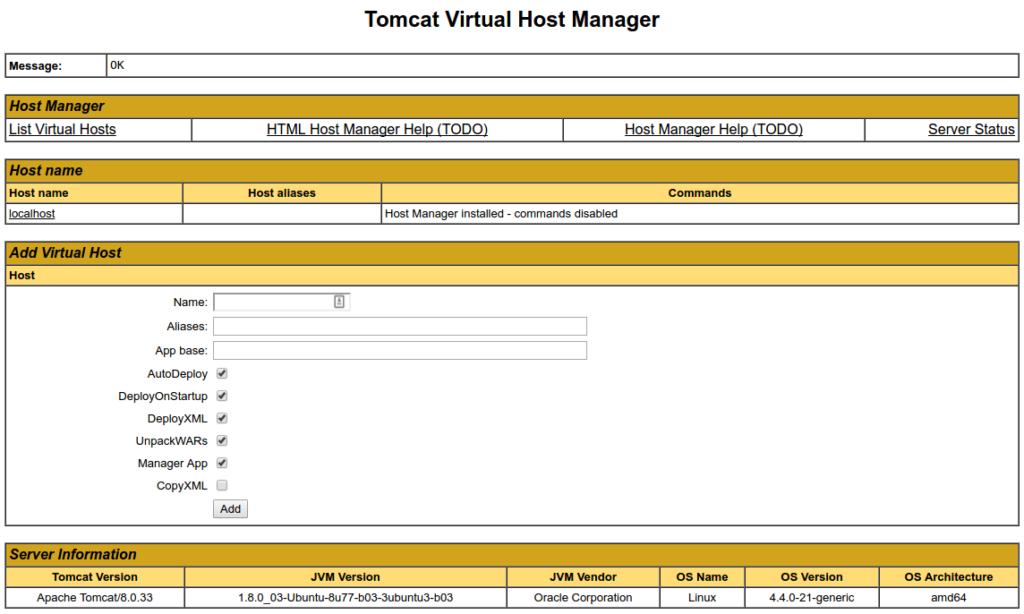 Установка Apache Tomcat 9 в Ubuntu 18.04