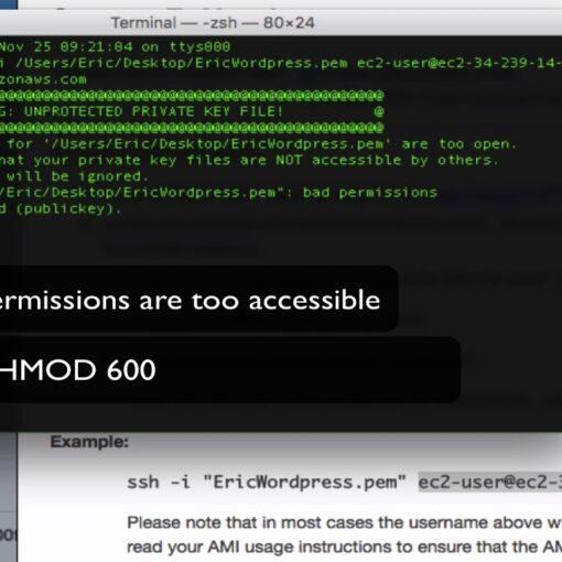 Ошибка SSH подключения WARNING: UNPROTECTED PRIVATE KEY FILE!